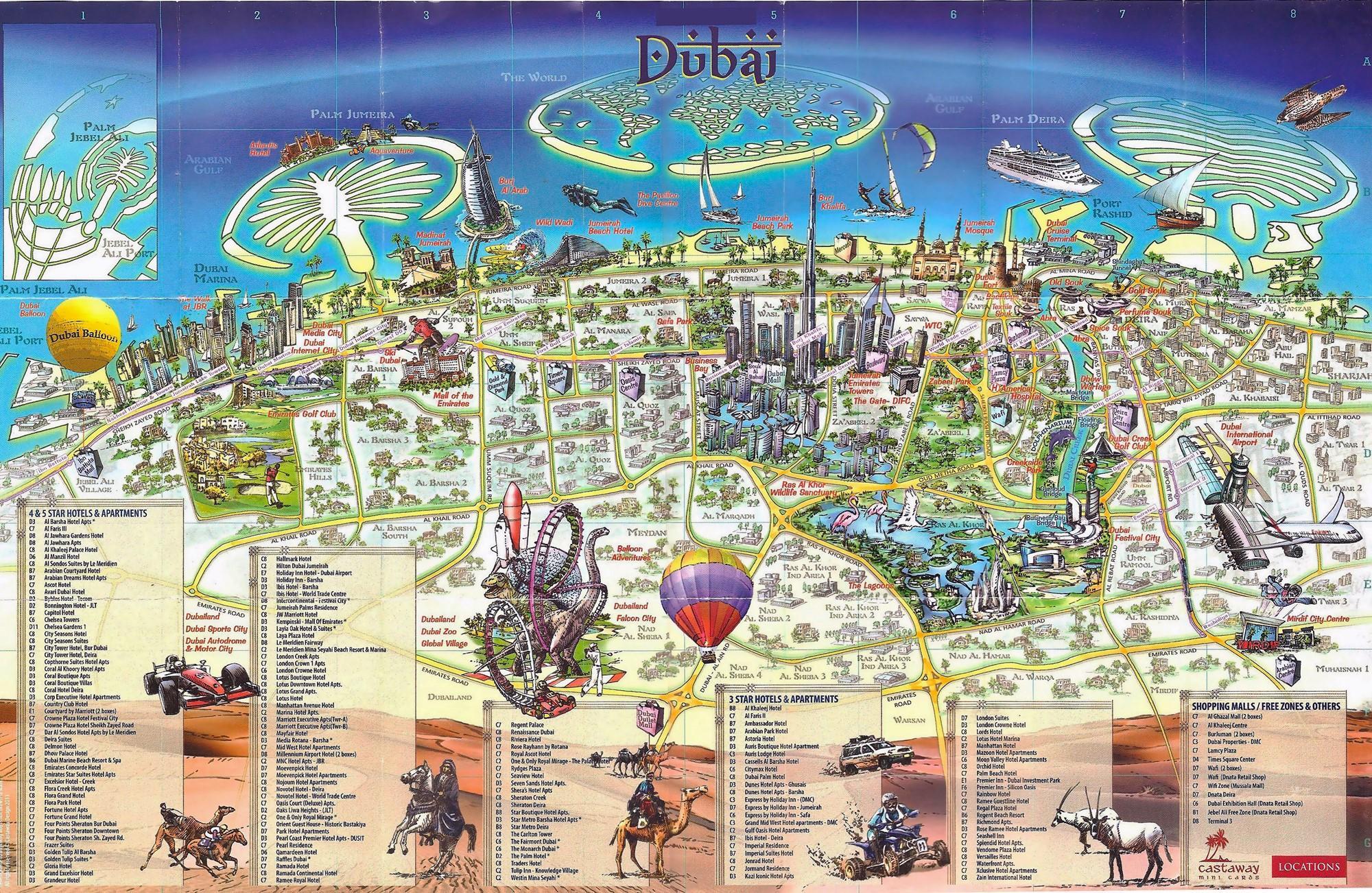 Dubai 3d Kort 3d Kort Over Dubai Forenede Arabiske Emirater