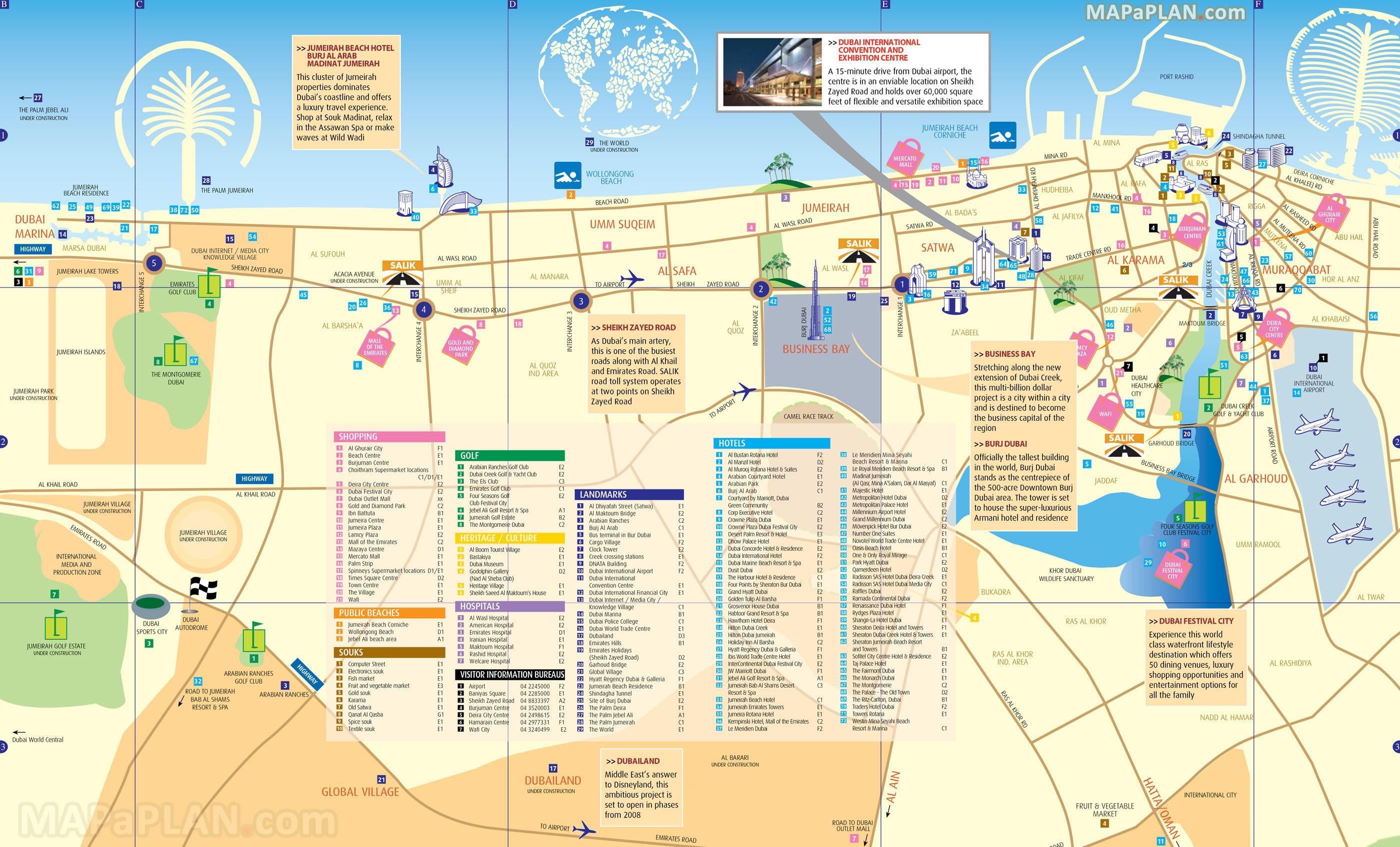 Dubai Souks Kort Kort Over Dubai Souks Forenede Arabiske Emirater