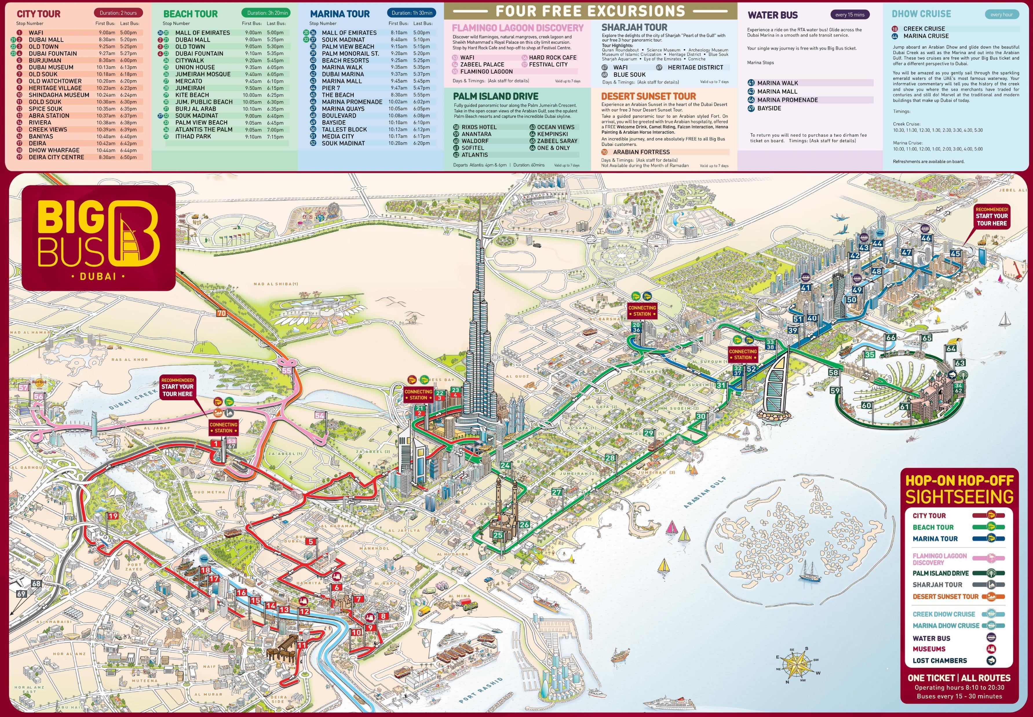 Dubais Sevaerdigheder Kort Kort Over Dubais Sevaerdigheder