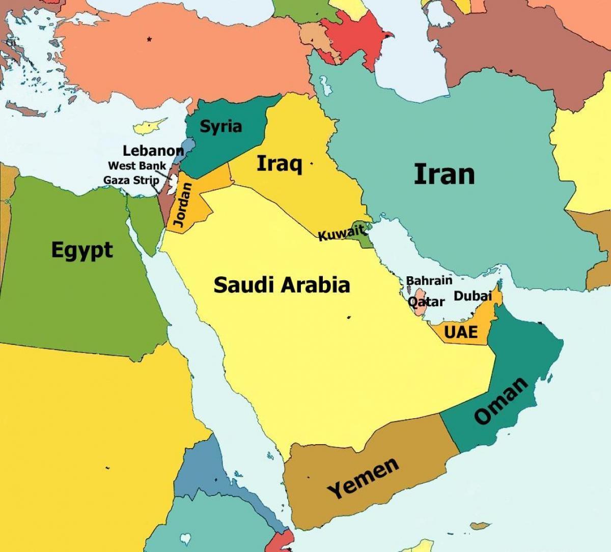 Dubai Kort Middle East Dubai Kort Over Mellemosten Forenede